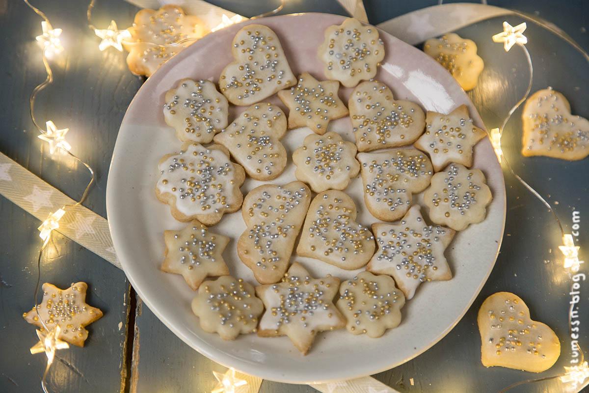 Wos Zum Essn Weihnachtsbäckerei Zitronige Marzipan Plätzchen Vegan