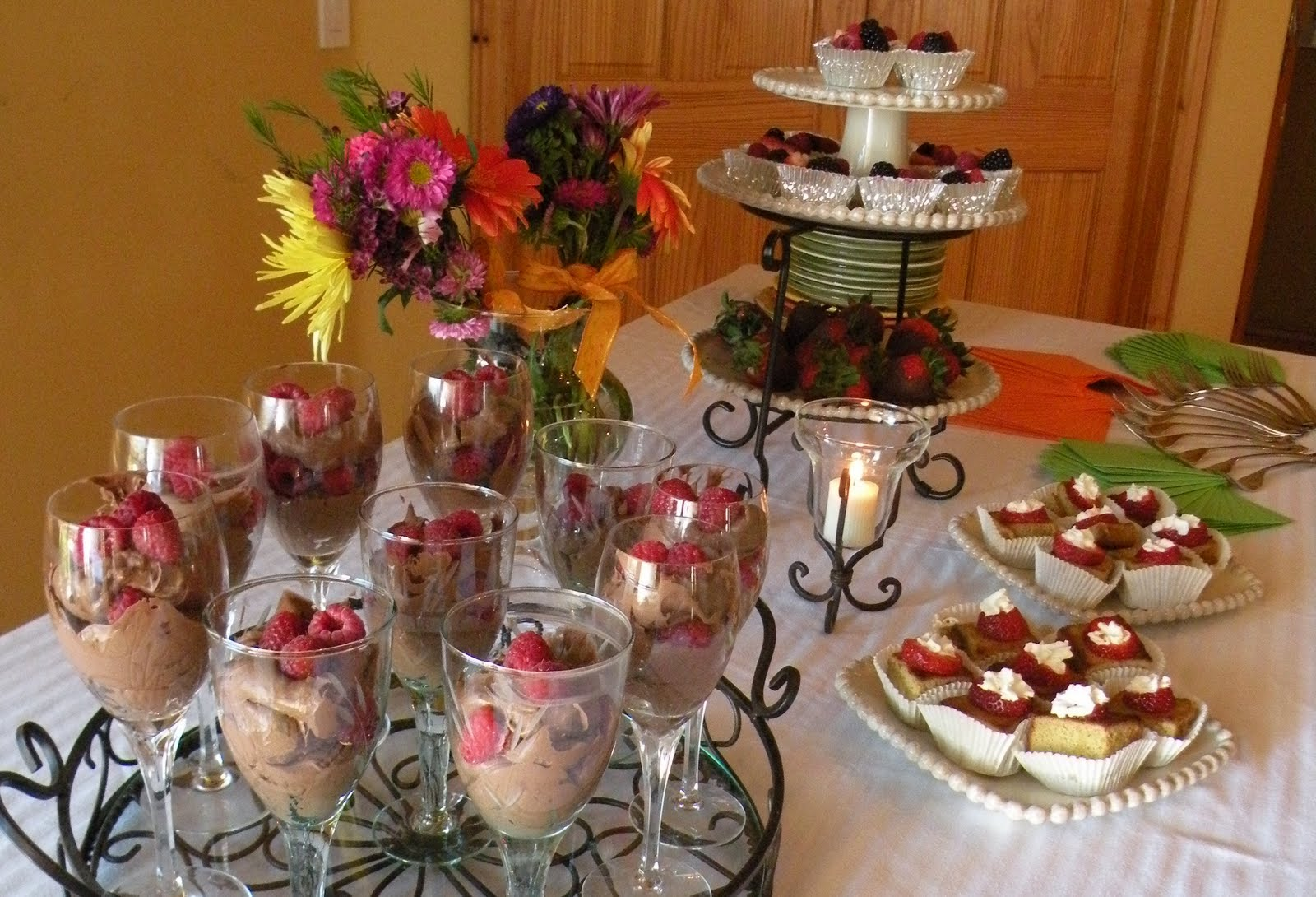 Style Unwrapped: Decadent dessert bridal shower menu and ...