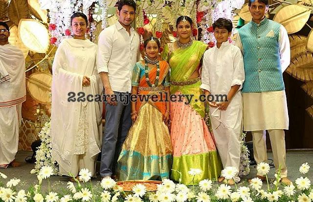 Mahesh Babu Niece Jahnavi Half Saree Event