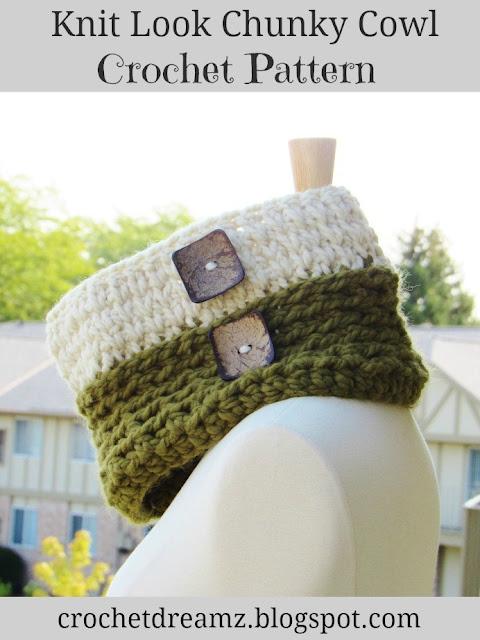 Knit Look Chunky Cowl Crochet Pattern