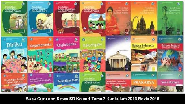 Buku Pegangan Guru dan Siswa SD Kelas 1 Tema 7 Kurikulum 2013 Revis 2016