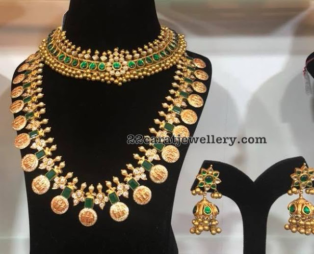 Emerald Ram Parivar Set Tussi Necklace