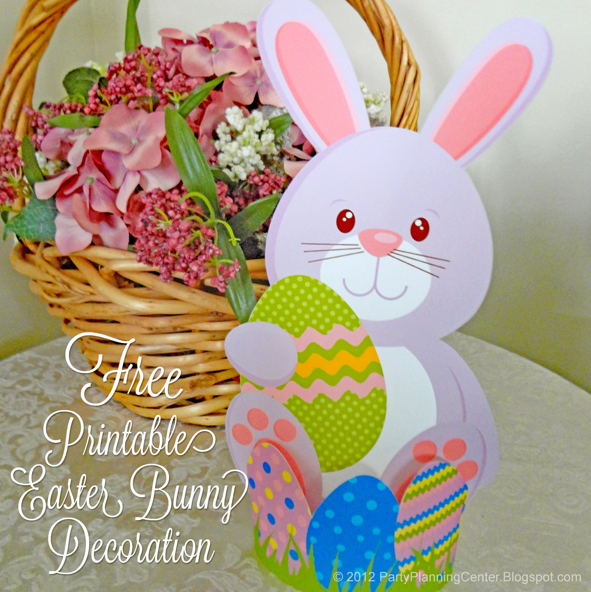 If I Do Say So Myself You Can Make The Cutest Easter Decorations With This Free Template That Matches My Basket Treats Labels