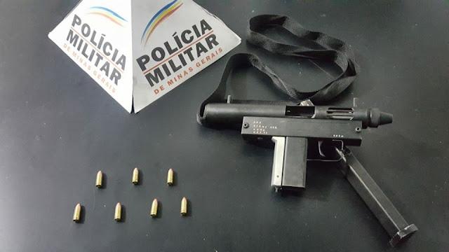 Policia prende homem com submetralhadora das forças armadas no Conjunto cristina em Santa Luzia