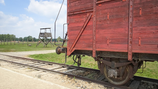 Last wagon that arrived in Auschwitz