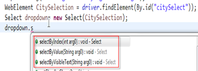 How to Select a Dropdown in Selenium WebDriver using Java