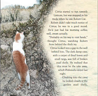 sample page of Cirrus chronicles with image of a cat