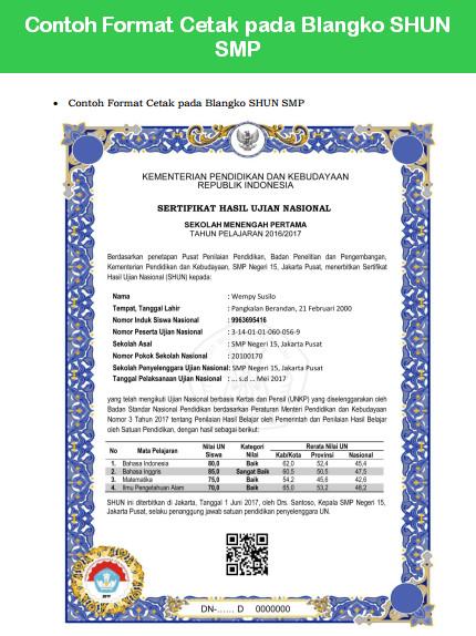 Juknis Pengisian Blanko Ijazah Un Amp Shun 2017 Kemdikbud