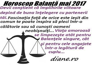 Horoscop mai 2017 Balanţă