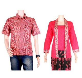 model baju batik couple pesta pernikahan