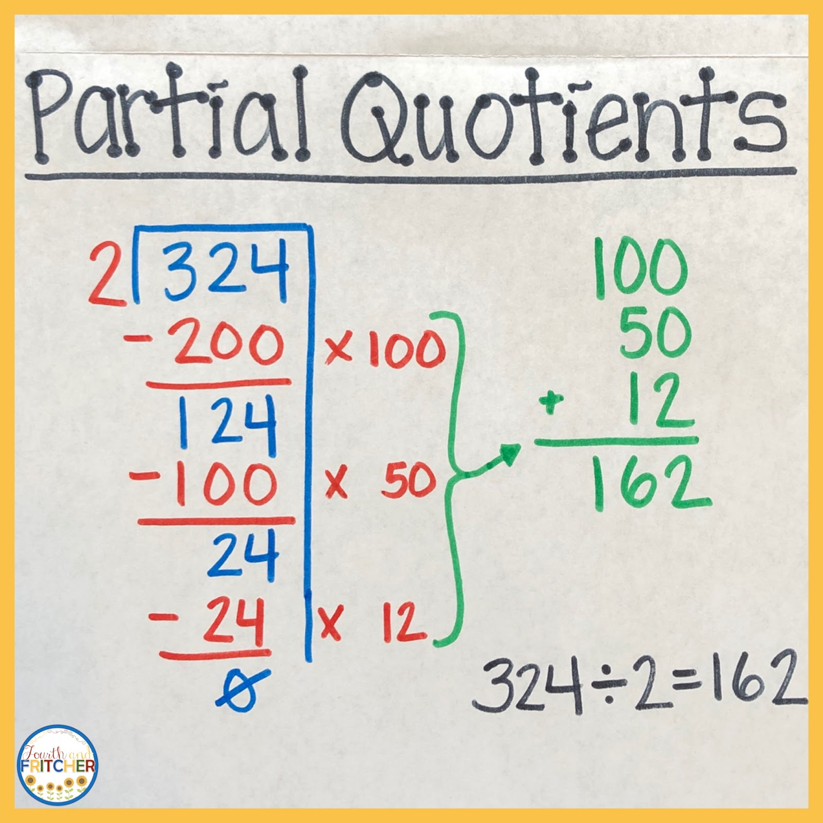Fourth And Fritcher Long Division Strategies