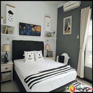 hiasan kamar tidur yang simple