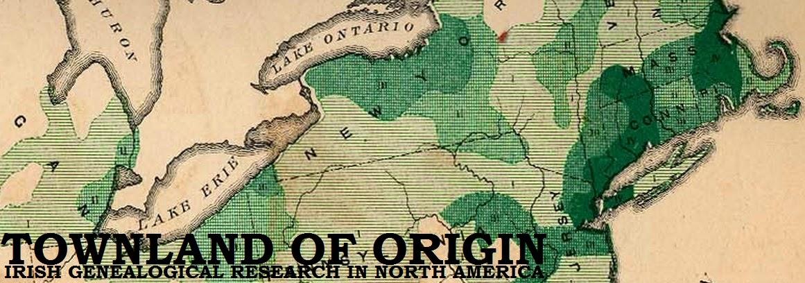 Townland of Origin: Online U S  Catholic Parish Registers