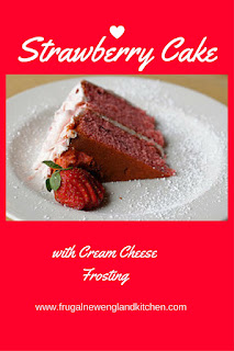 Strawberry Cake with Cream Cheese Frosting