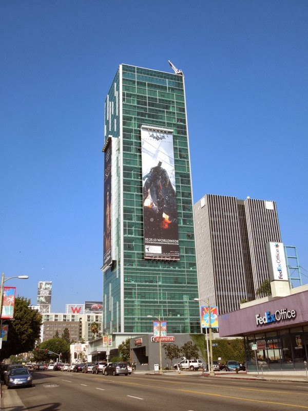 Batman Arkham Origins video game billboard