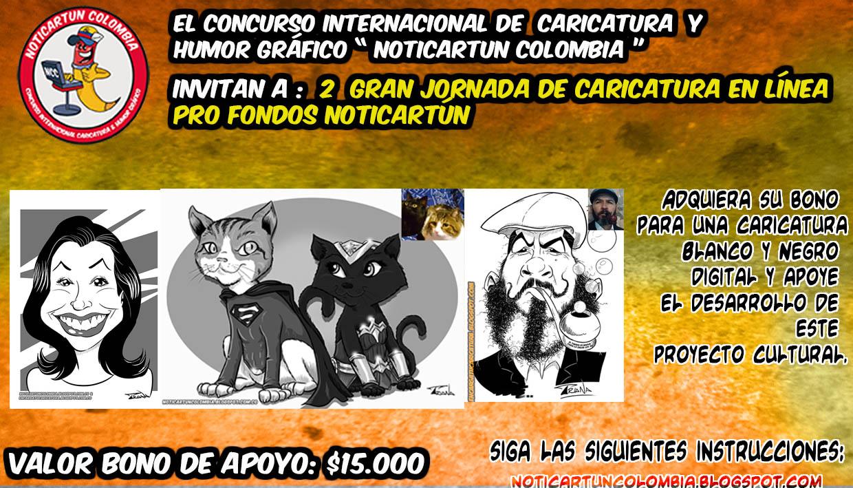 2 JORNADA DE CARICATURA EN LÍNEA PRO FONDOS NOTICIAS DE CARTOON COLOMBIA