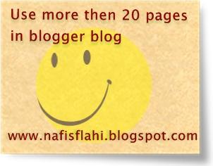 Blogger Pgae More then 20
