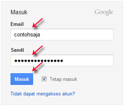 Login Gmail, Cara Membuat Blog di Blogger