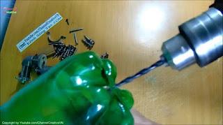 membuat sendiri kompresor mini dari botol bekas dan motor 12v