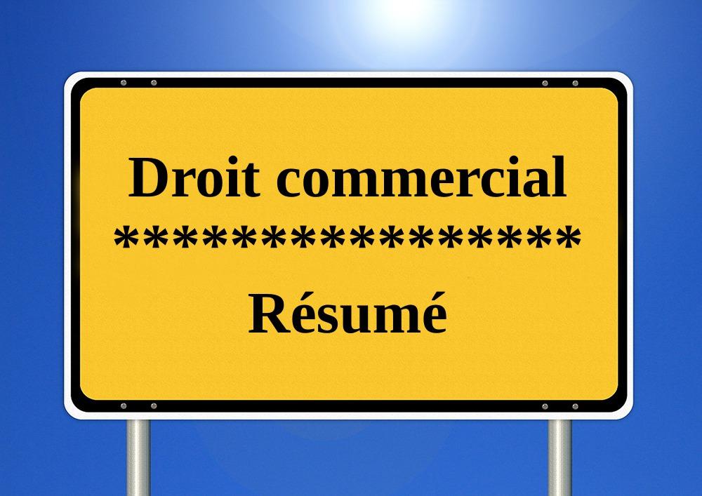 Droit,commercial