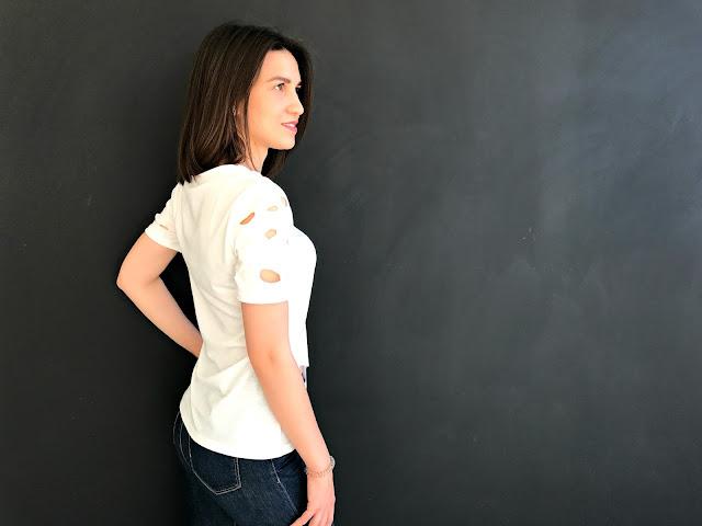 Zaful Ripped Short Sleeve T-Shirt