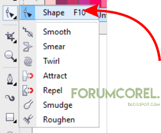 tutorial shape tool corel draw