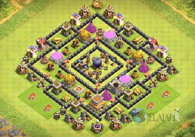 Base Farming TH 8 Clash Of Clans Terbaru 2017 tipe 23