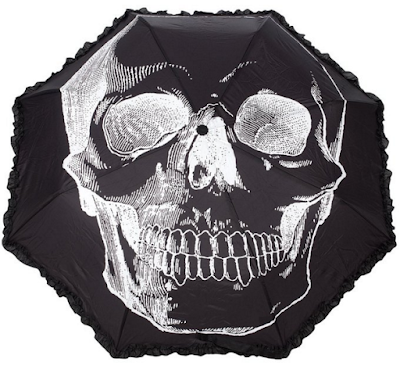 Sourpuss Anatomical Skull Umbrella