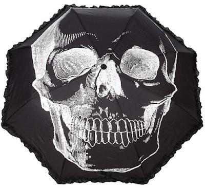 Sourpuss Anatomical Skull Umbrella