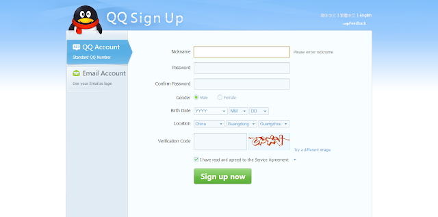 Sign Up Qq International