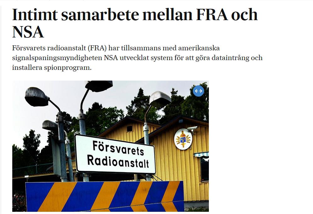 Nytt avslojande den svenska alliansfriheten ar over