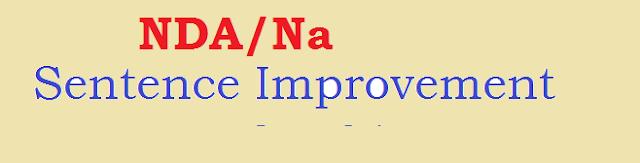 NDA/NA Sentence Improvement Set 01