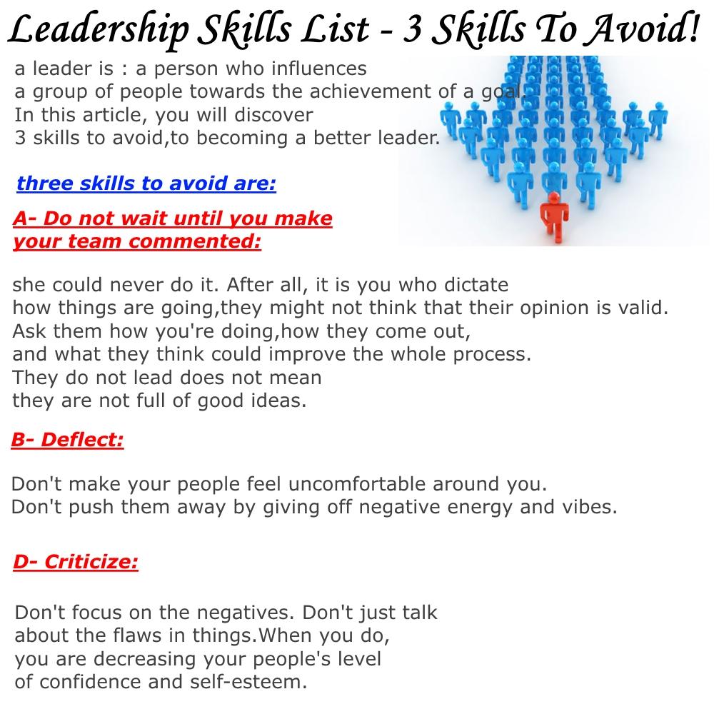 resume leadership skills resume leadership skills makemoney alex tk