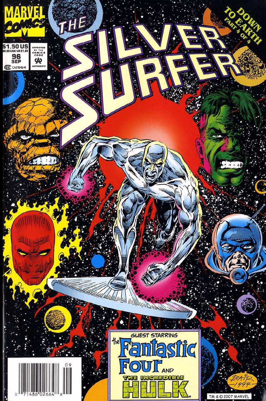Read online Silver Surfer (1987) comic -  Issue #96 - 1