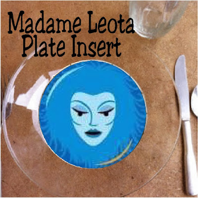 Throw a fun Haunted Mansion dinner party for your family and friends with a few reusable items from your party stash, these fun Madame Leota printable plate inserts, and a little bit of imagination. #madameleota #disneyhauntedmansion #dinnerparty #halloweenparty #diypartymomblog