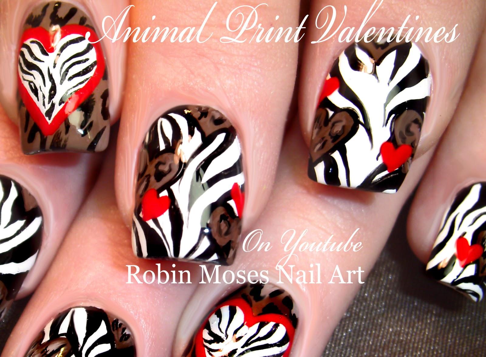 Nail Art By Robin Moses Animal Print Hearts Animal Print Nails