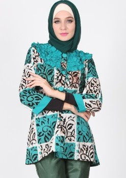 Model baju atasan batik remaja muslimah modern
