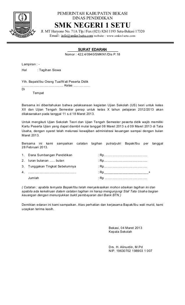 Contoh Surat Penagihan Pembayaran Barang Secara Resmi