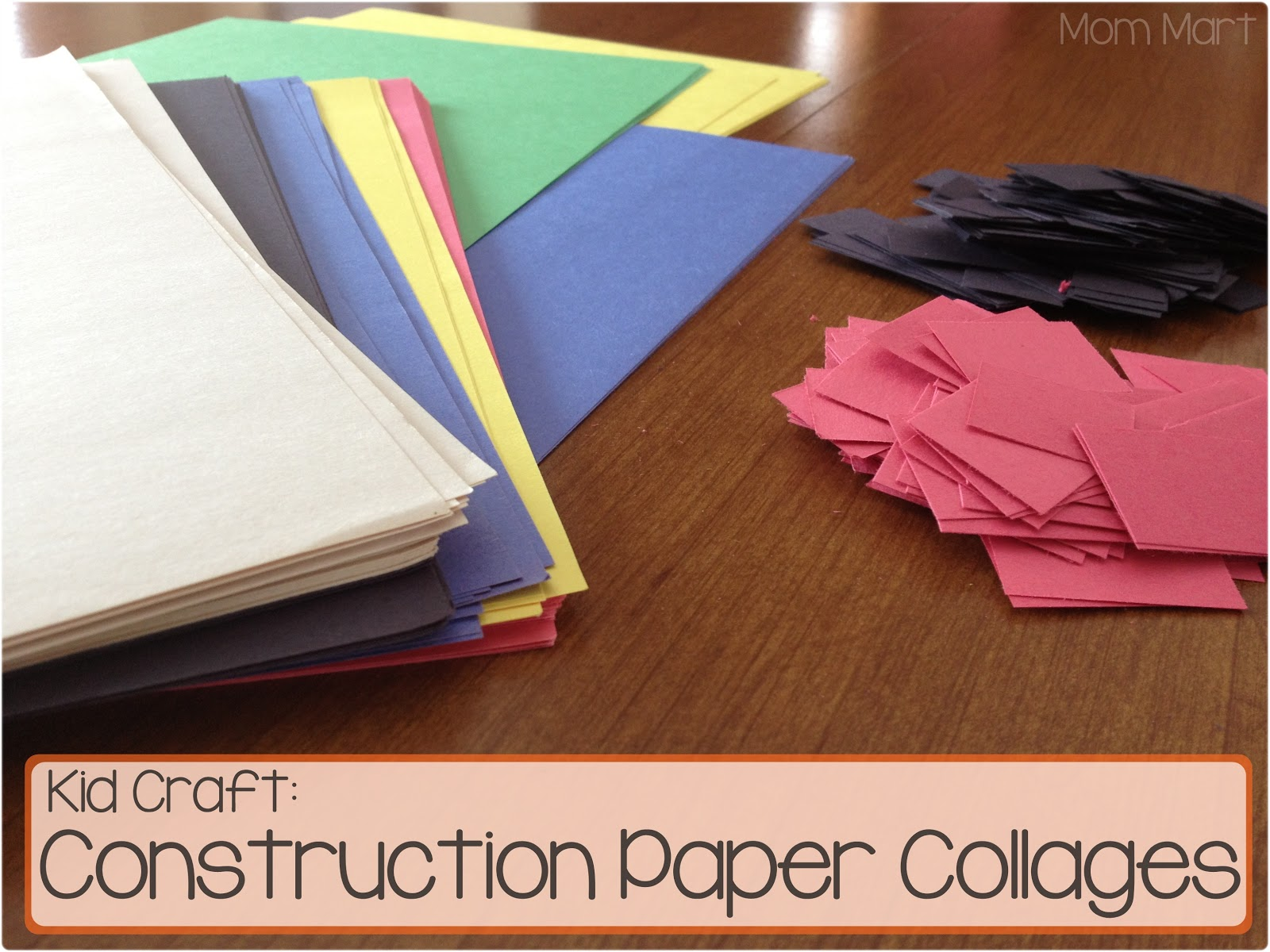 Mom mart kid craft construction paper collage for Where to buy contact paper for crafts