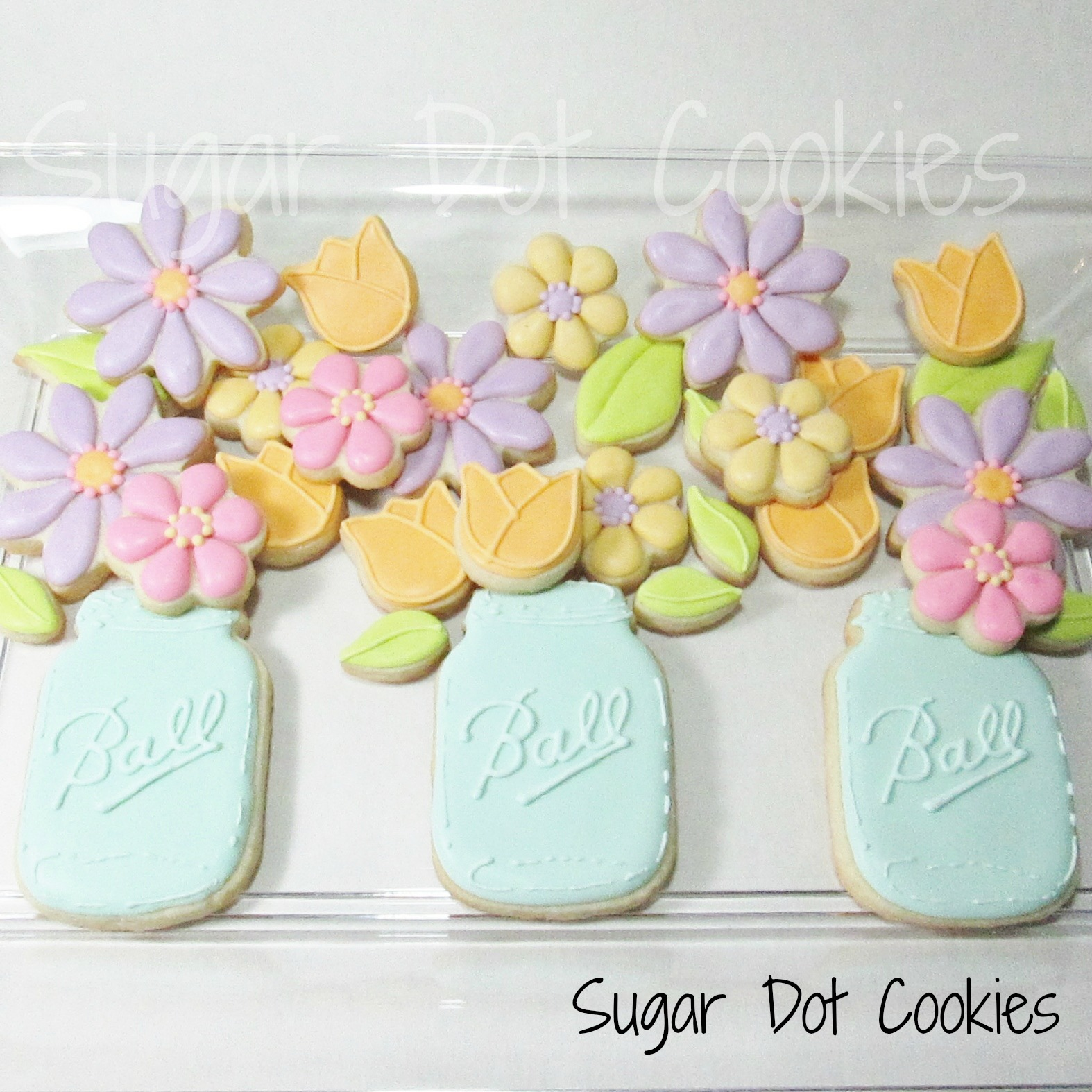 how to make flowers with icing sugar
