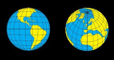 Menghitung Jarak di Peta Berdasarkan Garis Astronomis Lintang dan Bujur