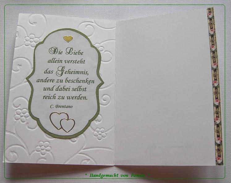Handgemacht Von Renate Hochzeitskarten Werden Doch Immer Wieder