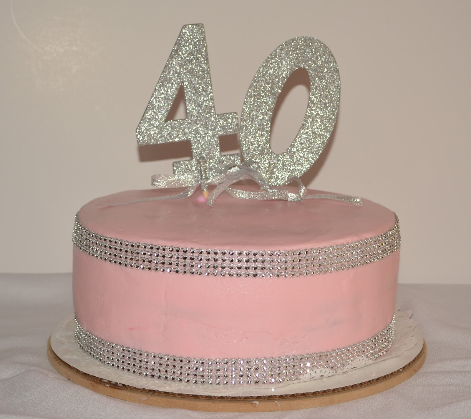 Pretty In Pink 40th Birthday Cake