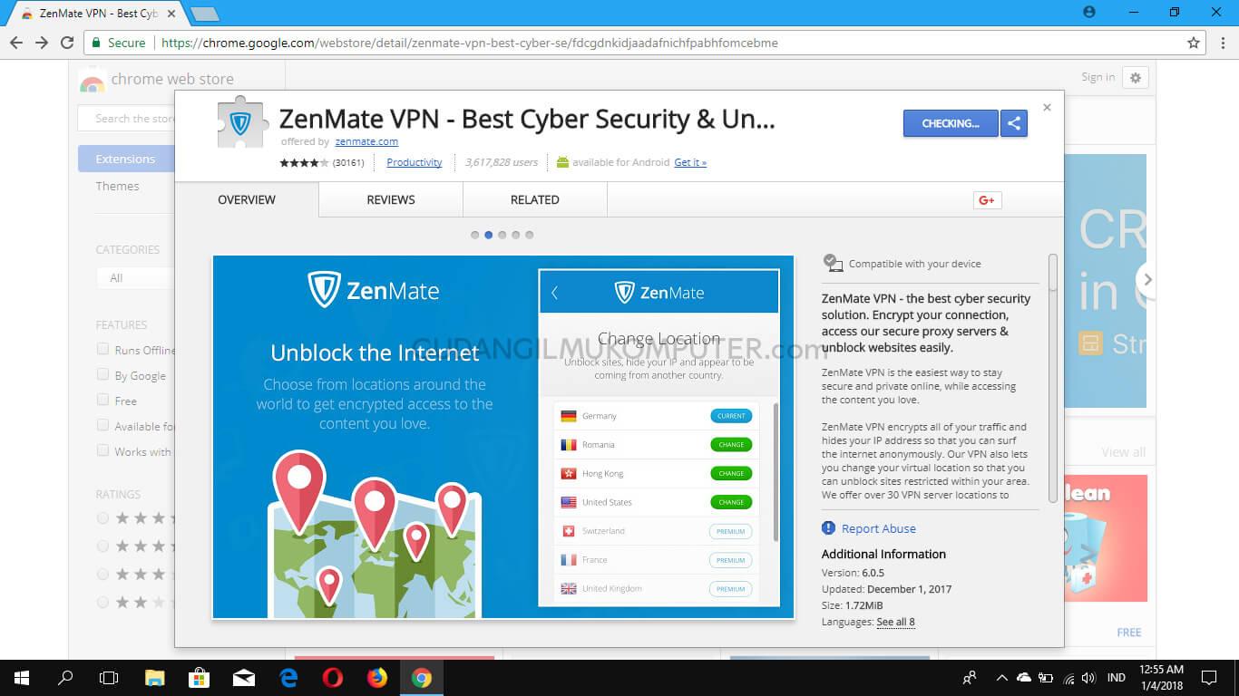 Cara Membuka Situs yang Diblokir dengan Zenmate