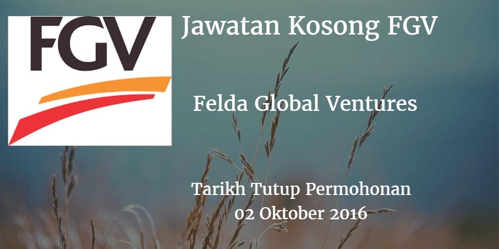 Jawatan Kosong FGV 02 Oktober 2016