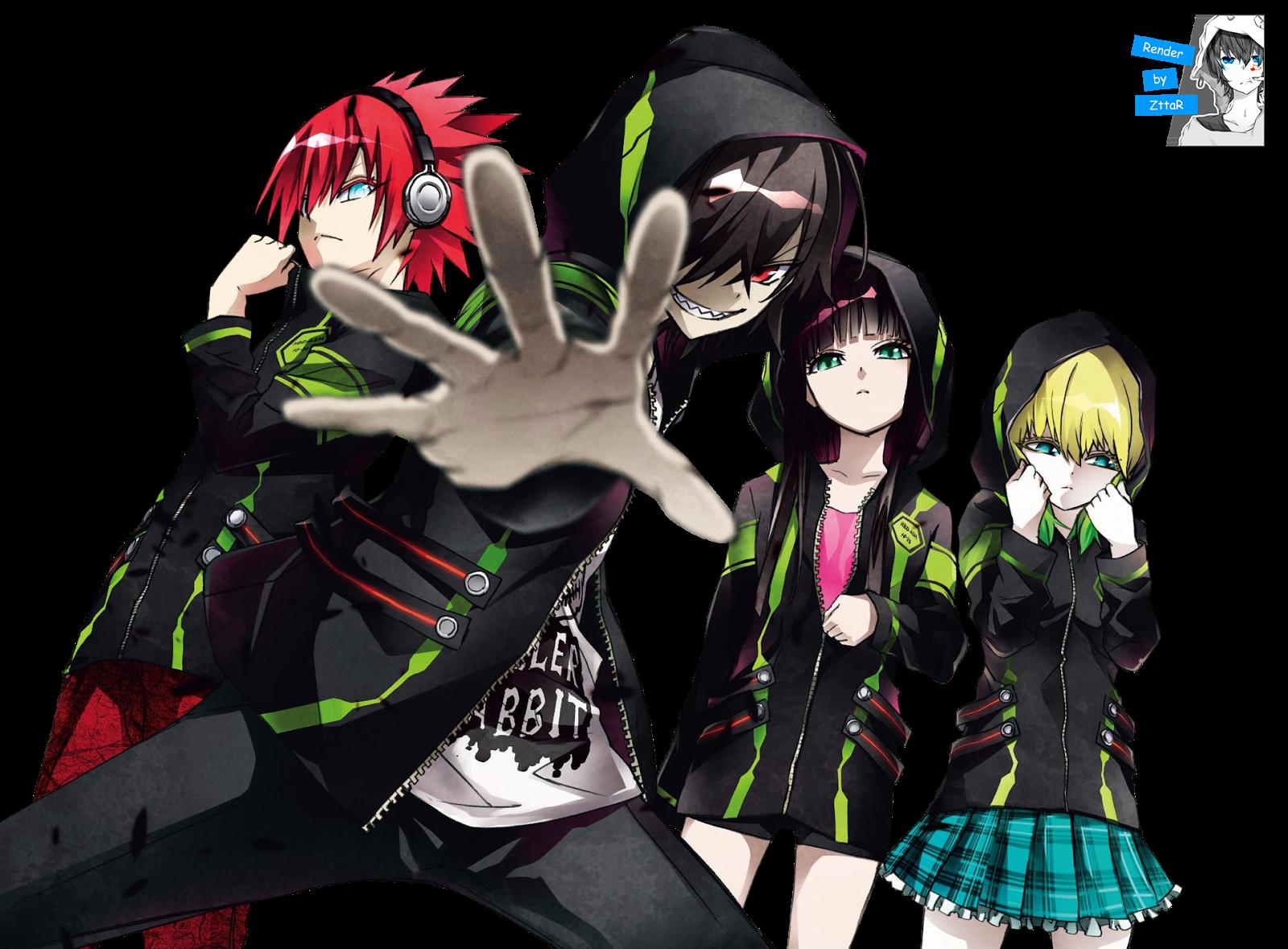 Render Ikaruga Shimon, Enmadou Rokuro, Adashino Benio and Otomi Mayura GRUPAL ~2 versiones~