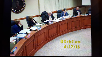 School Committee - photo captured from webcast