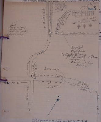 Hand-drawn map from MI5 files (KV 2/30) (National Archives)
