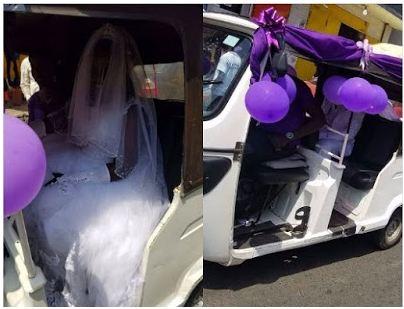 Couple Use Convoy Of Keke Napeps On Their Wedding Day (Photos)