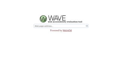 WAVE main page image